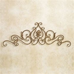 Scollastica Scroll Wall Topper Satin Gold