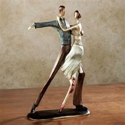 Dance of Love Table Sculpture Champagne Gold