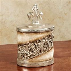 Appollonia Covered Jar Platinum