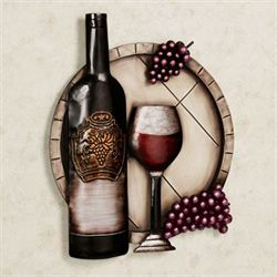 Cellar Reds Wine Wall Art Multi Metallic