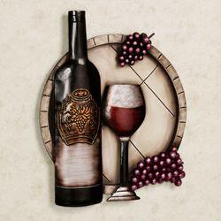 Cellar Reds Wine Wall Art Multi Metallic