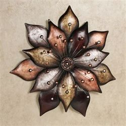 Arris Floret Wall Art Multi Metallic