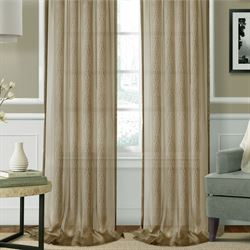 Enza Wide Tailored Curtain Pair