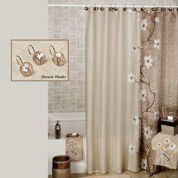 Magnolia Shower Curtain Bronze 70 x 72