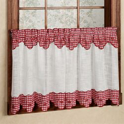 Provence Gingham Tailored Tier Pair