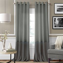 Melody Semi Sheer Grommet Curtain Panel