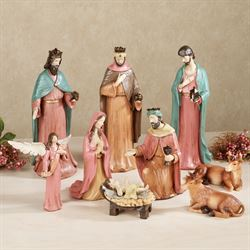 Perfect Child of Heaven Nativity Set Multi Jewel Set of Nine