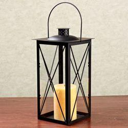 Tall Coach Lantern Candleholder Black