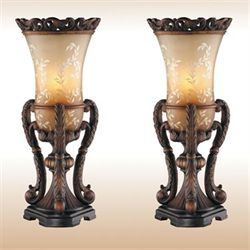 Chitrita Table Lamp Pair Bronze