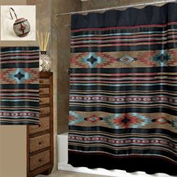 Santa Fe Shower Curtain Black