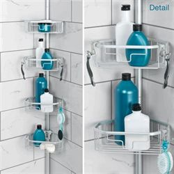 NeverRust Corner Shower Caddy Satin Chrome