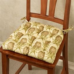 Pineapple Grove Chair Cushion Golden Yellow 17 x 15