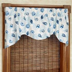 Shell Array Shaped Valance Glacier 52 x 21