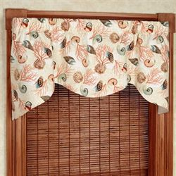 Shell Array Shaped Valance Vermillion 52 x 21