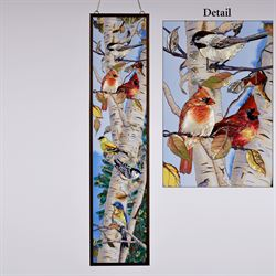 Songbirds Window Art Panel Multi Warm