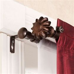 Flair Cocoa Double Curtain Rod Set
