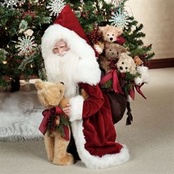Stone Soup Handmade Never Enough Bears Santa Red