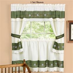 Berkshire Cottage Tier and Valance Set Green