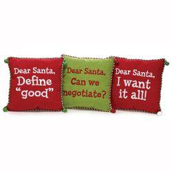 Santa I Can Explain Pillow Multi Warm 12 Square
