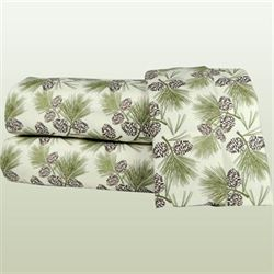 Pine Cones Sheet Set Light Cream