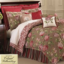 Charlotte Roses Comforter Set Light Taupe