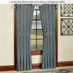 Chantal Tailored Curtain Pair Steel Blue 82 x 84
