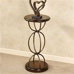 Abstract Elements Pedestal Table Autumn Cherry