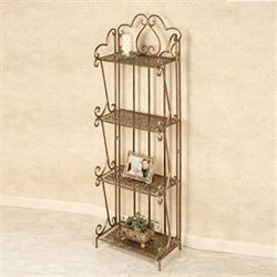 Mazie Paisley Etagere Antique Gold