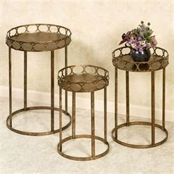 Regal Lux Nesting Tables Dark Gold Set of Three