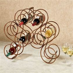 Brady Wine Bottle Rack Burnished Bronze