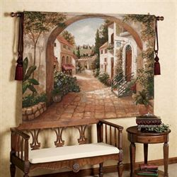 Quaint Town Tapestry