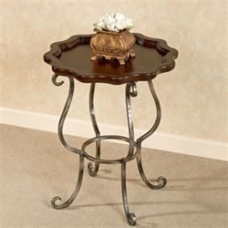 Minerva Accent Table Regal Walnut
