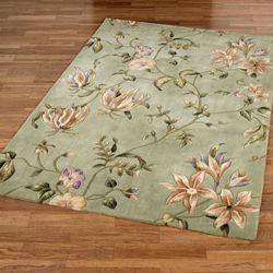 Secret Floral Rectangle Rug Sage
