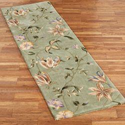 Secret Floral Rug Runner Sage