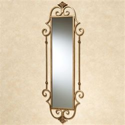 Esmeralda Panel Wall Mirror Antique Gold