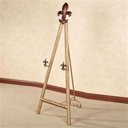Fleur de Lis Display Floor Easel Antique Gold