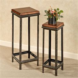 Waylon Wood and Iron Nesting Table Set & Accent Tables | Touch of Class