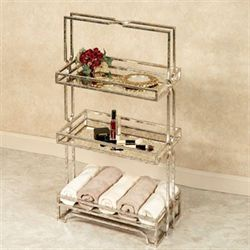 Marla Three Tier Shelf Silver Gold
