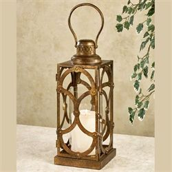 Regal Lux Lantern Candleholder Dark Gold