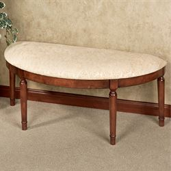 Mazie Half Moon Bench Regal Walnut