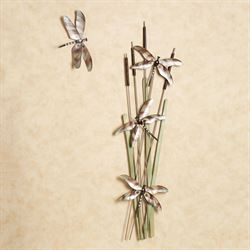 Skimming the Bulrush Sculpture Set Multi Earth Set of Two