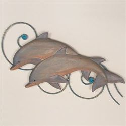 Bottlenose Dolphins Sculpture Gray