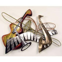 Cool Jazz Wall Sculpture Silver