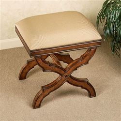 Allana Upholstered Stool Regal Walnut