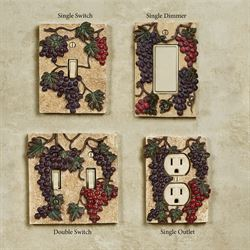 Vintage Harvest Grapes Single Switch Multi Earth