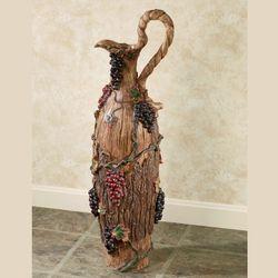 Vintage Harvest Grapes Pitcher Floor Vase Multi Earth