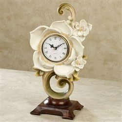 Magnolia Charm Accent Clock Ivory