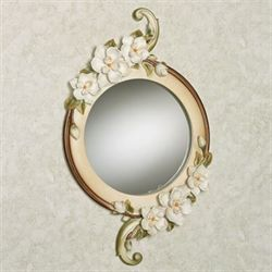 Magnolia Charm Wall Mirror Ivory