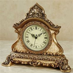 Arellia Accent Clock Gold/Ivory