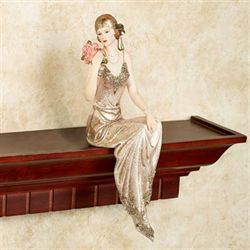 Poised with Style Shelf Sitter Gold